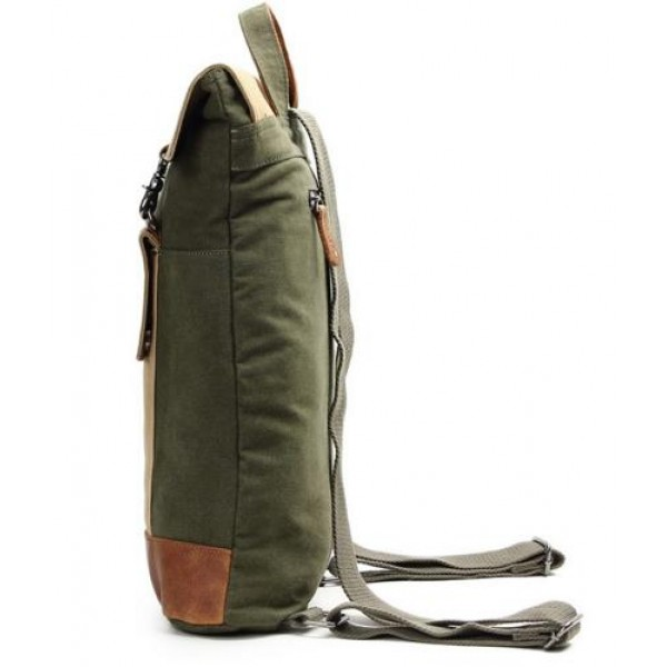 1990f8d849 Canvas And Leather Rucksack Satchel Backpack
