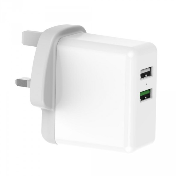 UK Plug QC3.0 Quick Charge Usb Wall Charger Mobile Phone