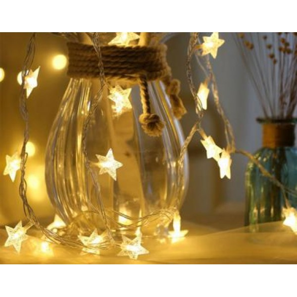3m 20 Led Star Copper Wire String Led Fairy Lights